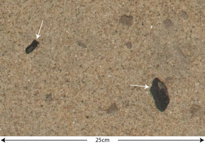 a basalt flake